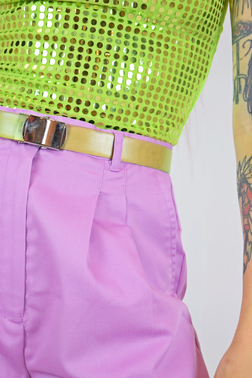 Y2K LIME DISCO HALTER - XS