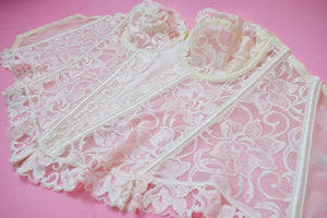 70s WHITE LACE BUSTIER