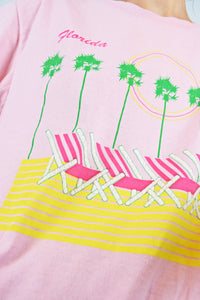 70s PINK NOVELTY FLORIDA TEE - M