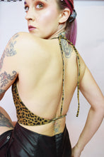 LEOPARD LEATHER HALTER