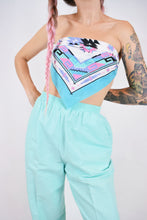70s PASTEL TEAL TROUSERS - 28""