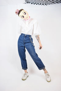 80s HIGH RISE COUNTY SEAT MOM JEANS - 28/29""