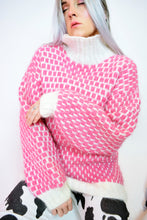 70s CHUNKY PINK JUMPER