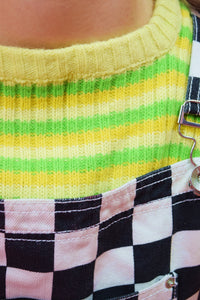 60s NEON RIBBED SWEATER