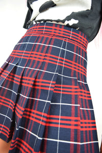 PLAID AA MINI SKIRT - SMALL