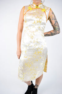 TRADITIONAL YELLOW CHEONGSAM DRESS