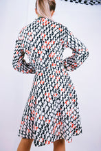 60s CHROMATIC GEO MIDI DRESS - M