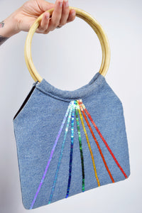 RETRO RAINBOW PURSE