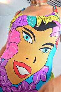 BARELY LEGAL POP ART SWIMSUIT - XS