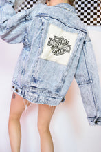 HARLEY DAVIDSON ACID WASH JACKET - SMALL