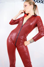 Y2K CHECKERBOARD CATSUIT - S/M