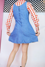 DENIM MINI PINAFORE