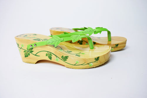 POISON IVY WOODEN SANDALS