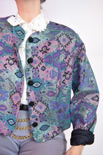 DESIGNER HOLOGRAPHIC CROPPED JACKET