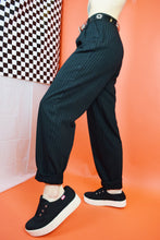 80s PINSTRIPE MAGICIAN TROUSERS - 25""