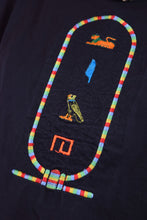 80s RAINBOW EMBROIDERED HIEROGLYPHIC TSHIRT - M/L