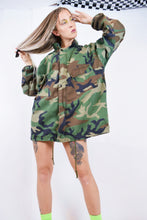 60s RAINBOW EMBROIDERED CAMO UTILITY JACKET