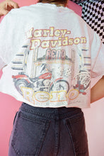 90s HARLEY CROPPED TEE - L