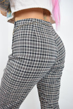 90s GINGHAM TROUSERS - 26""