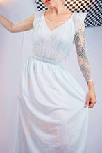 1940s POWDER BLUE VICTORIAN SLIP - S/M