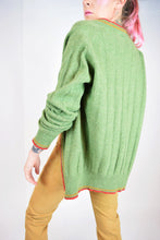 MR RODGERS GREEN CARDIGAN - S