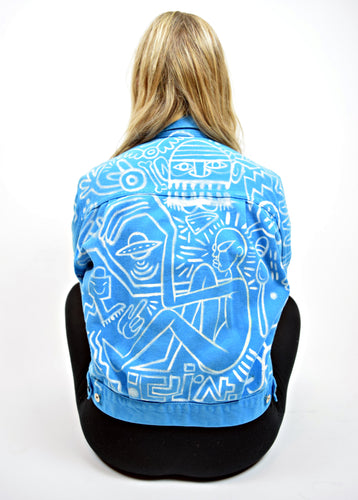 EATCHO Hand Painted GUESS Denim Jacket