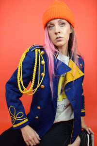 60s BLUE AND GOLD GRAND MAESTRO JACKET - SMALL
