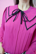 60S STRUCTURED PINK BLOUSE