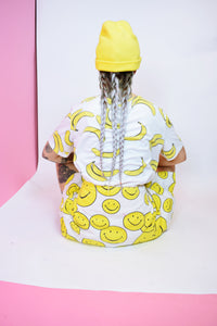 90s BANANA POP ART TSHIRT - L