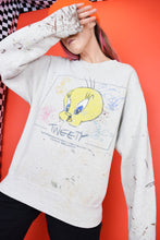 90S THRASHED TWEETY SWEATER - S/M