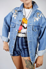 80s WESTERN APPLIQUE DENIM JACKET