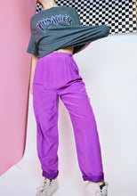 70s MAGENTA SILK TROUSERS