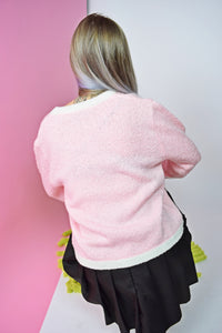 40s BABY PINK SWEATER