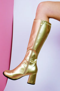 """70s"" GOLD BOOTS"