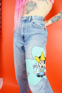 "90s MINNIE UP-CYCLED JEANS - 28"" WAIST"
