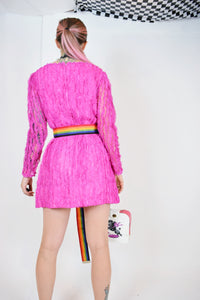 60S PINK FRILLY MOD MINI