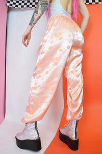 SALMON SILK TROUSERS - XS-M