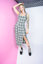 90s GREEN PLAID MAXI