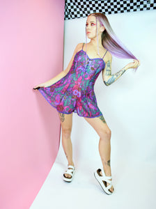 COLORFUL SHEER PLAYSUIT