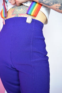 HIGH WAIST PURP TROUSERS