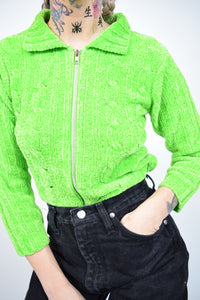 LIME GREEN DREAM SWEATER