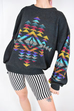70s RAINBOW AZTEC PRINT SWEATER - M/L