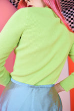 LIME GREEN 90S TRTLNCK - SMALL