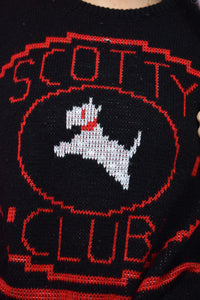 RETRO SCOTTY SWEATER - SMALL