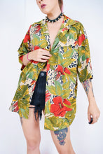 90s PALM FOREST BLOUSE - L