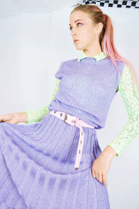 PURPLE PASTEL GLITTER DISCO ACCORDION MIDI - M