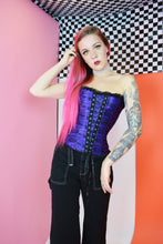 PURP AND BLACK GOTH CORSET - SMALL