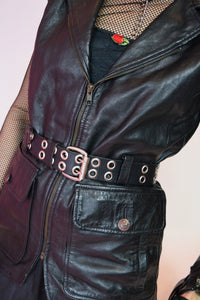 Sonia Rykiel Leather Utility Vest