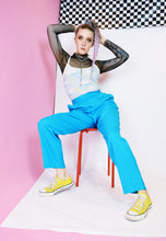 70s NEON BLUE TROUSERS