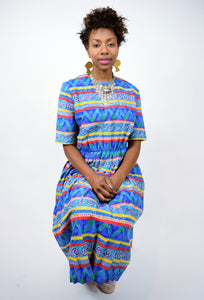 Rainbow Tribal Midi Dress